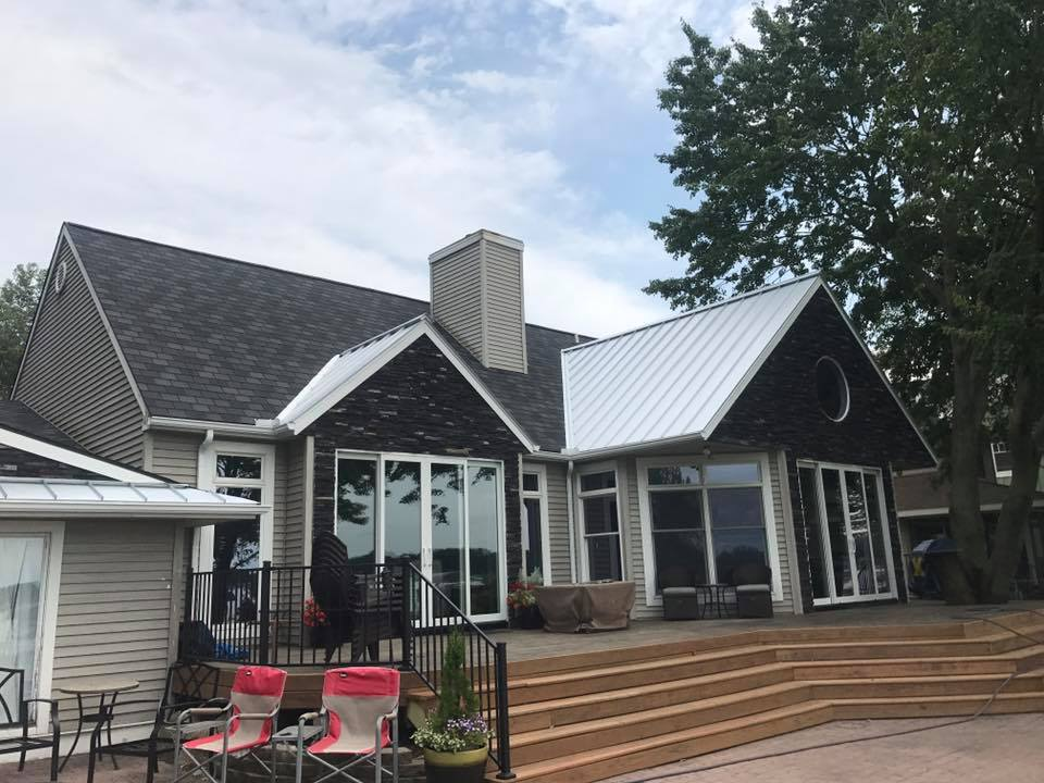 Silver standing seam roof